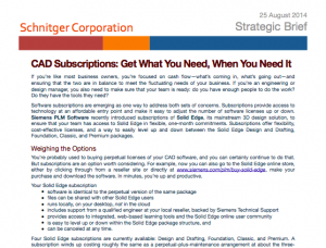 Solid Edge subscriptions: affordable, professional CAD